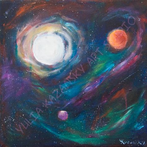 acrylic painting space giclee print of original acrylic space painting view from