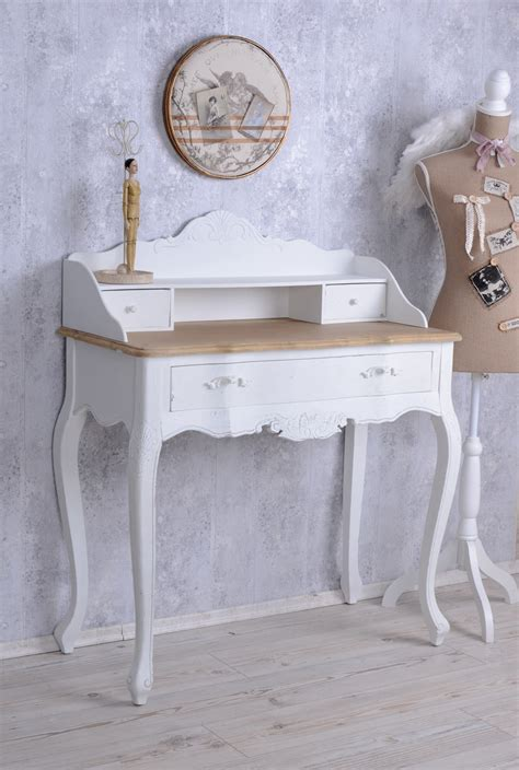 white shabby chic desk console table shabby chic desk wall table white