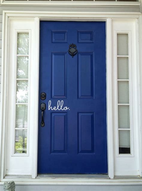 navy blue front doors 5 fantastic before and after front door makeovers blue