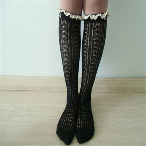 white cable knit knee high socks platinum white cable knit boot socks w lace ivory