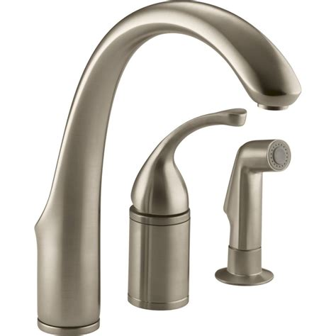 kohler single kitchen faucet kohler faucet k 10430 g forte brushed chrome one handle