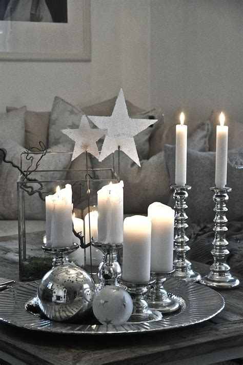 silver table decorations for top silver and white decoration ideas