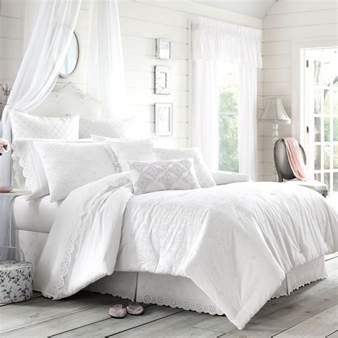 white bedroom comforter sets eyelet white comforter bedding by piper wright