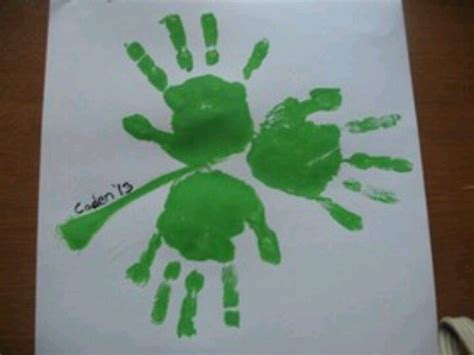 st patricks crafts for shamrock handprint craft st s day