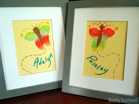 baby craft projects rainbow butterfly footprint artwork crafting with
