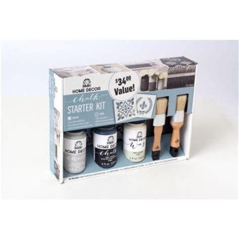chalk paint starter kit folkart home decor rich black and parisian grey chalk