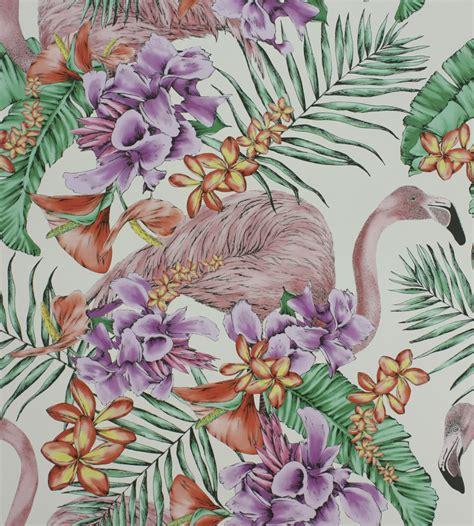Exotic Home Interiors flamingo club wallpaper by matthew williamson jane clayton