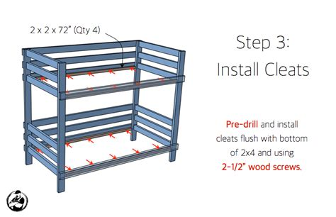 simple bunk bed plans 2x4 bunk bed 187 rogue engineer