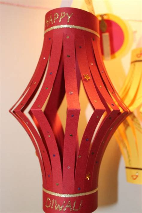 Diwali Paper Lantern Craft Ideas