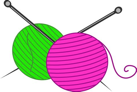 knitting clip knitting wool clipart free stock photo domain