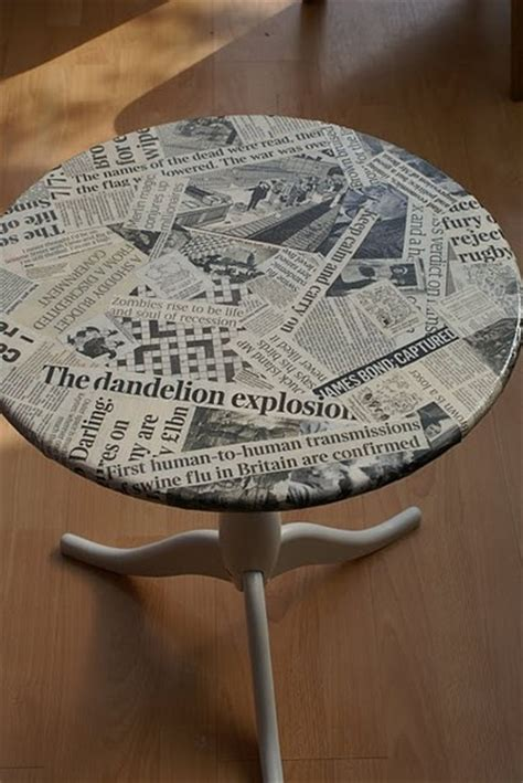 decoupage newspaper upcycling the into the waste wise