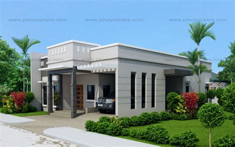 Simple House With Garden by Arcilla Three Bedroom One Storey Modern House Shd