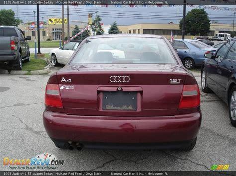 1998 Audi A4 1 8t by 1998 Audi A4 1 8t Quattro Sedan Hibiscus Pearl Onyx