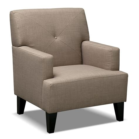 Living Chair by Avalon Accent Chair Wheat Value City Furniture