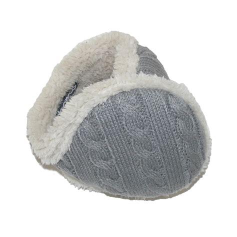 knitted ear warmers womens cable knit ear warmers by 180s beltoutlet