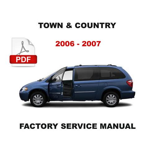 free auto repair manuals 2006 chrysler town country electronic toll collection 2006 2007 chrysler town and country petrol diesel engine repair workshop manual chrysler