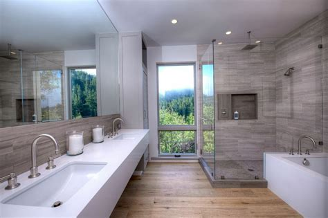 modern master bathroom contemporary master bathroom with flat panel cabinets by