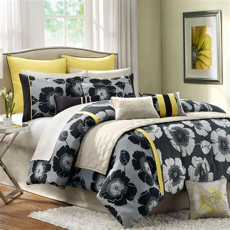 yellow and black comforter sets modern interior yellow bedding sets