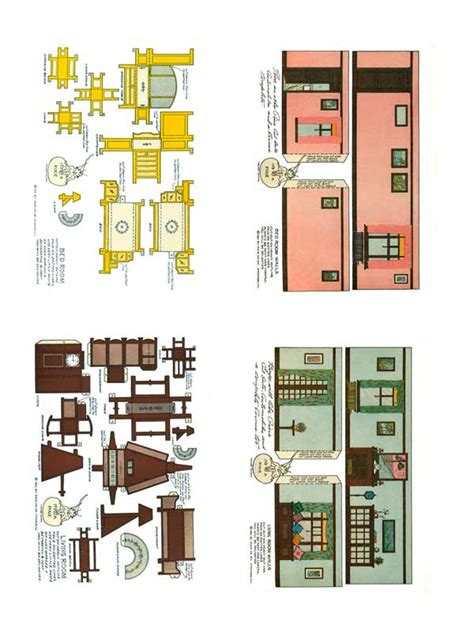 paper craft home 1920 s home interiors paper model free paper toys and
