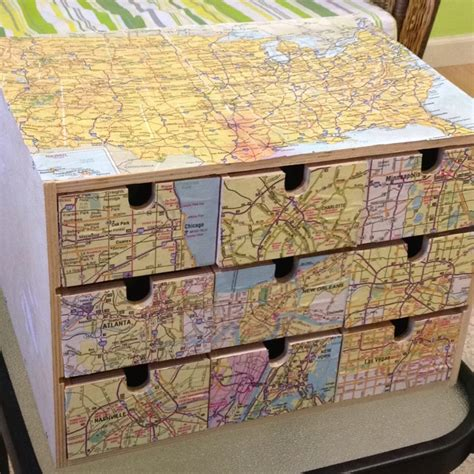 decoupage map ikea storage decoupage maps redecorating our home