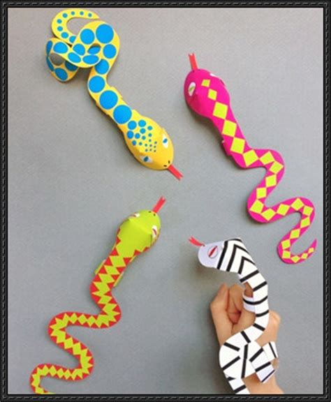 craft paper crafts papercraftsquare new paper craft snake finger