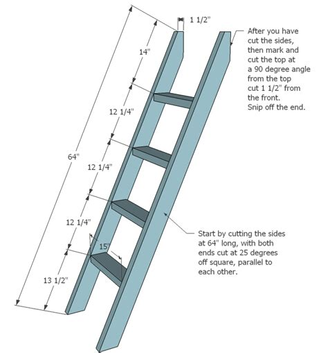 plans to build a bunk bed ladder plans diy free