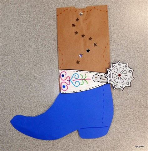 western crafts for paper bag cowboy boots cut boot shape from different