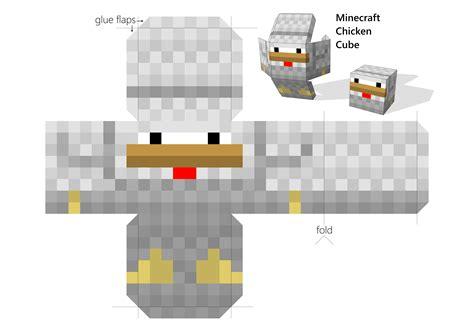 cube paper craft chicken cube papercraft by lockrikard on deviantart