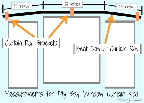Curtain Rods For Bow Windows the secret to diy bay window curtain rods from 3 little