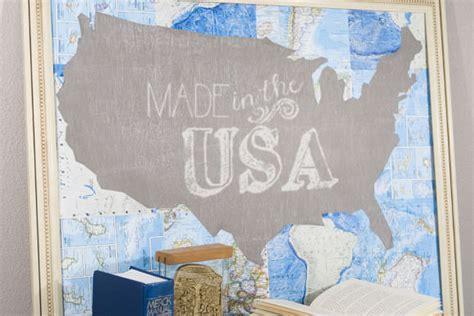 diy chalkboard map diy chalkboard map handmade
