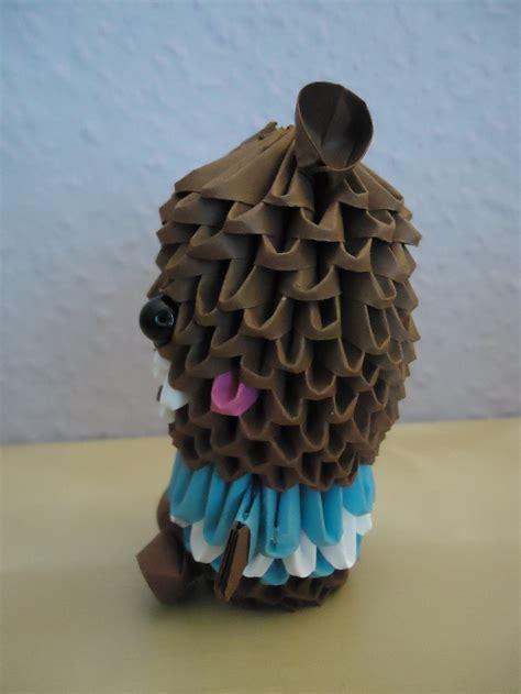 3d origami teddy 3d origami teddy w striped shirt 2 by mixowelle