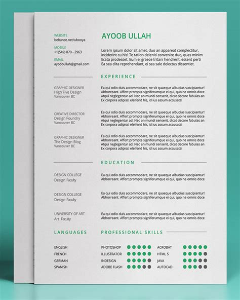 20 free editable cv resume templates for ps amp ai