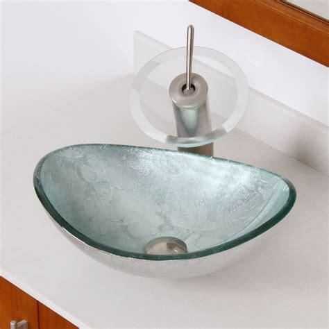 elite 1412 unique oval artistic silver tempered glass