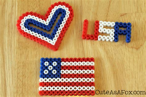 what to make with perler patriotic perler