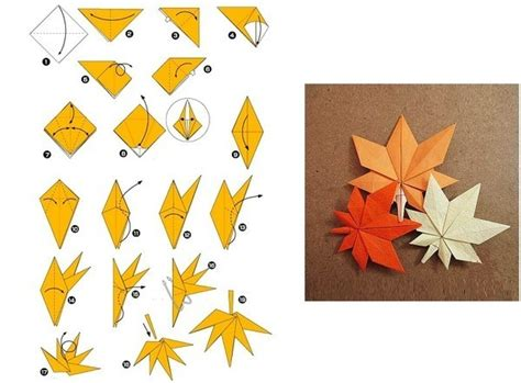 origami maple leaf origami folding maple leaf thanksgiving autumn