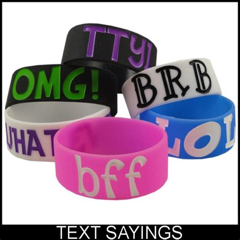 rubber st text text sayings designer rubber saying bracelet