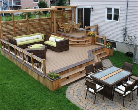 backyard wood patio best 25 small deck patio ideas on small deck