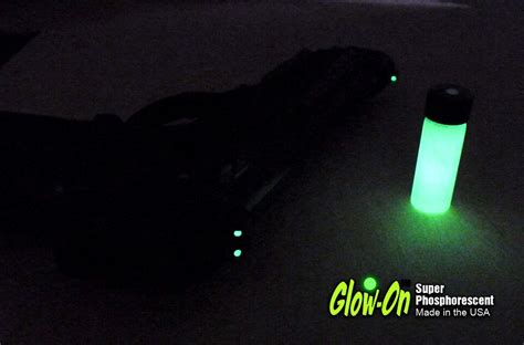 glow in the paint sights glow intensity of glow on gun sights paint different colors