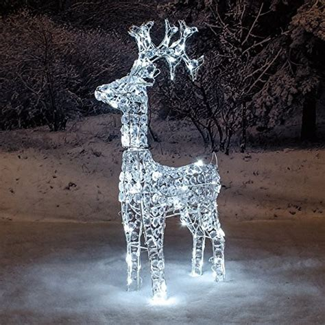 white light reindeer south eastern horticultural 1 2m twinkling reindeer white led