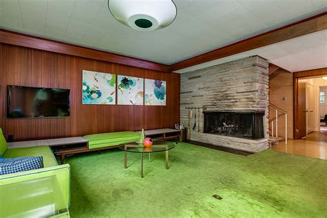retro wood paneling stunning mid century modern toronto time capsule house by