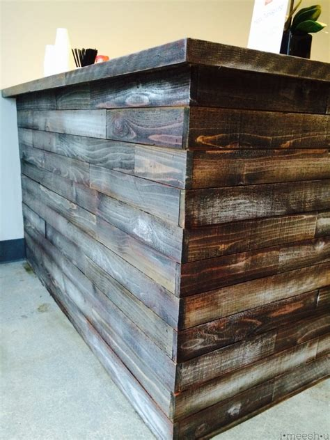 diy chalk paint and stain stain and chalk paint to make a bar to look rustic and