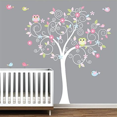 wall decal stunning white tree wall decal for nursery