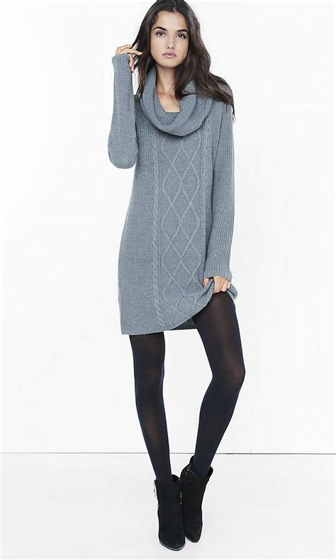 cable knit sweater dress gray cowl neck cable knit sweater dress