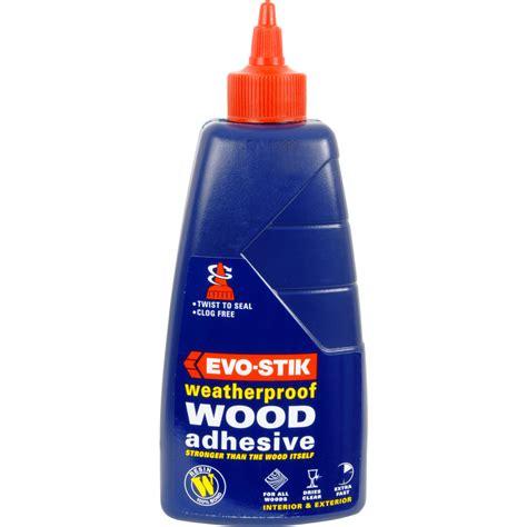 woodworking glues evo stik exterior resin w wood adhesive 500ml toolstation