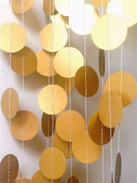 gold decor gold garland paper garland wedding garland wedding