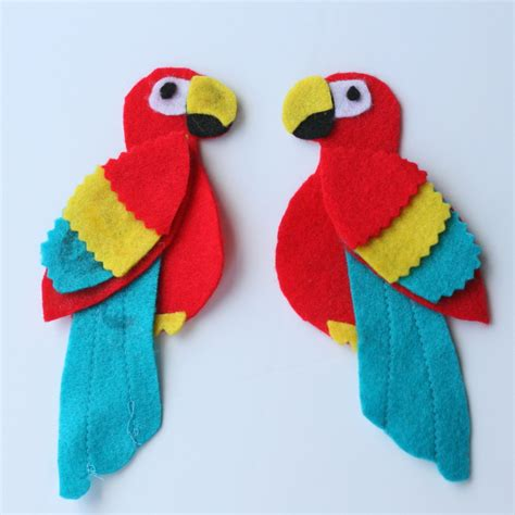 and craft for pirate parrot crafts find craft ideas