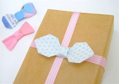 bowtie origami diy paper folding origami bow tie tutorial packaging