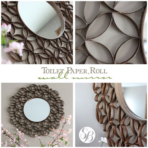 mirror paper craft toilet paper roll mirror wall simply bloom
