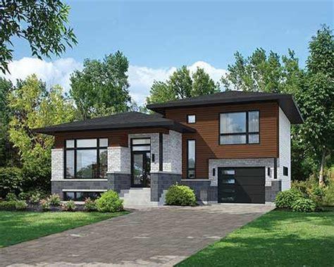 split level contemporary house plan 80789pm 1st floor best 20 split level exterior ideas on
