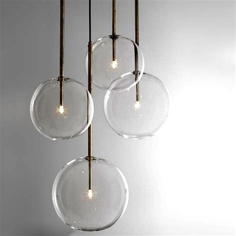 pendant lighting modern modern clear glass orb pendant lighting 12308 browse